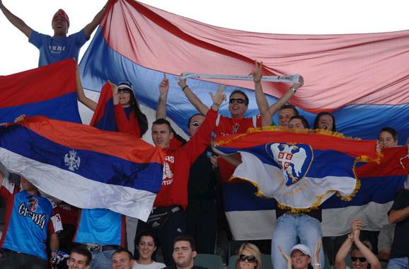 Srpski navijači u Adelejdu 2007. godine