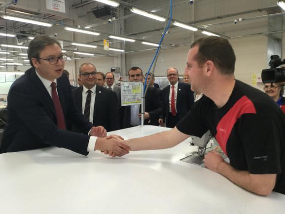 Vučić danas u fabrici