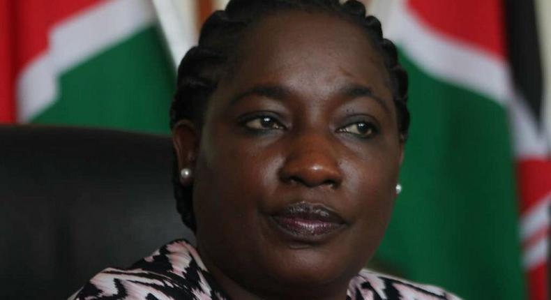 Former Public Service Principal Secretary Lillian Omollo