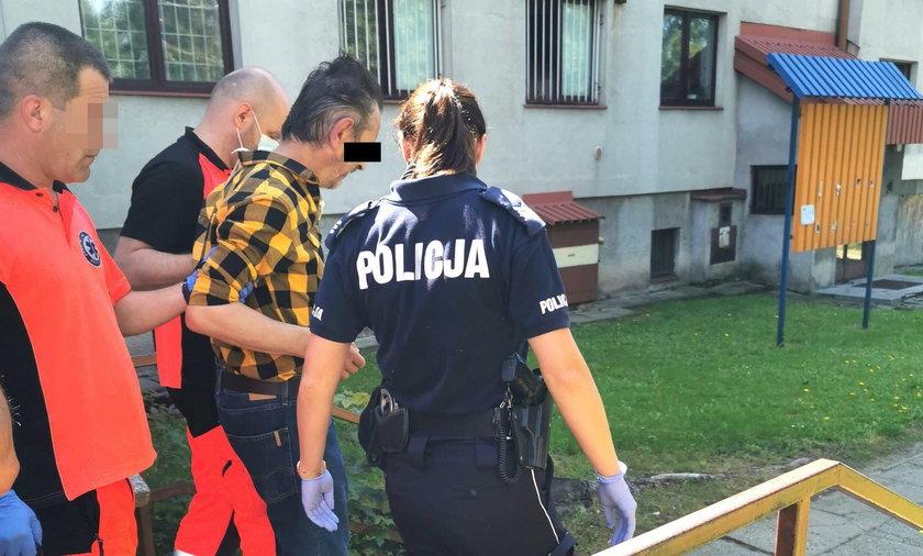 58-latek wtargnął na pocztę w Krośnie i zemdlał