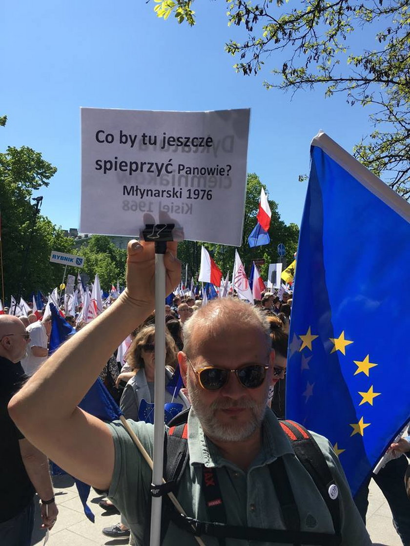 Agata Młynarska, KOD, demonstracja