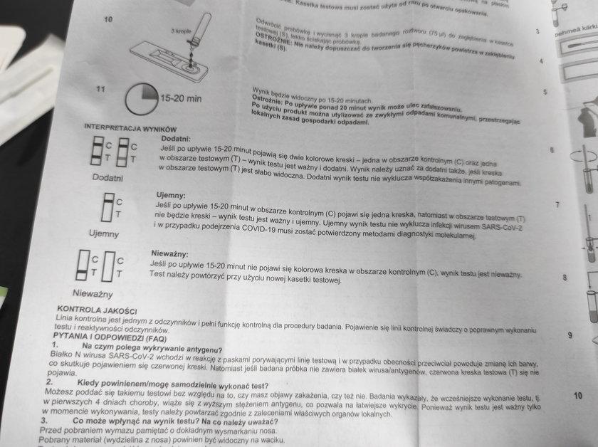 Test antygenowy na COVID-19 z Lidla