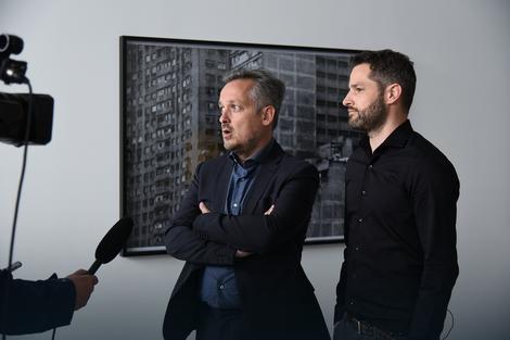 David Laufer i Jan Oigster u svojoj galeriji
