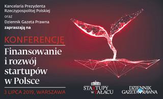 Startupy w Pałacu: 'Finansowanie i rozwój startupów w Polsce' - zapraszamy na konferencję