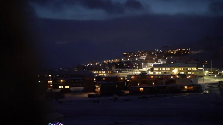 Svalbard, polarna noć