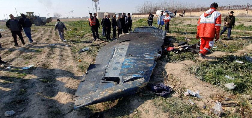 General view of the debris of the Ukraine International Airlines, flight PS752, Boeing 737-800 plane