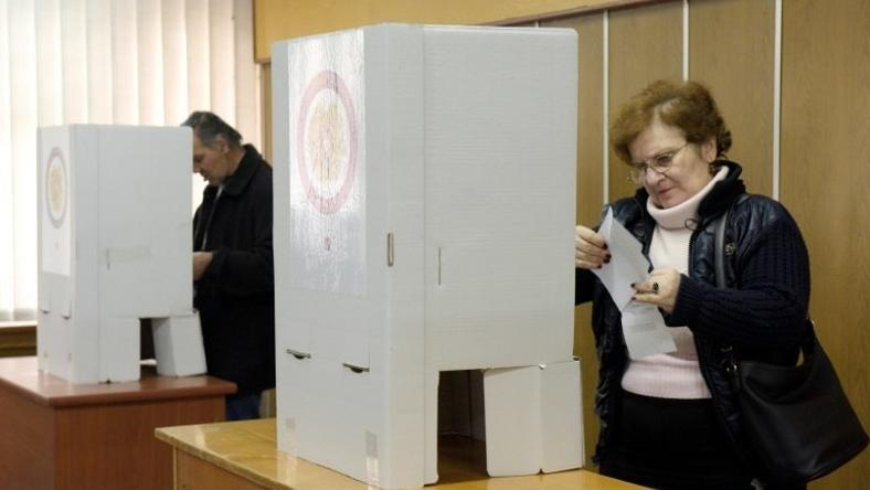 Early results in Armenia's parliamentary elections give a lead to the ruling Republican Party, April 3, 2017