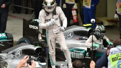 I'm hunting you down, victorious Hamilton warns Rosberg