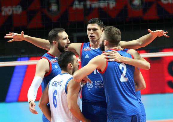 Odbojkaši Srbije slave pobedu protiv Čeha