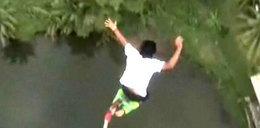 Przeżył skok na bungee. Zobacz wideo