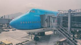 Test klasy biznes w samolocie KLM 747 w locie z Hongkongu do Amsterdamu