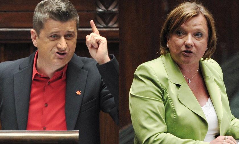 Janusz Palikot i Beata Kempa