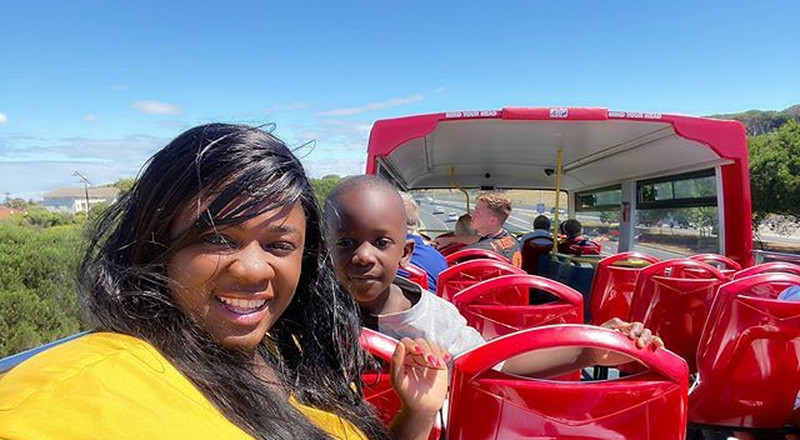 Photos:Tracey Boakye and son spend vacation in South Africa