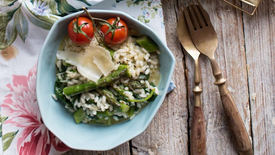 Klasyka włoskiej kuchni - risotto ze szparagami