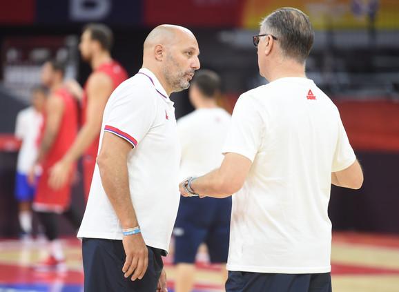 Selektor Aleksandar Đorđević na treningu Srbije pred meč sa Italijom