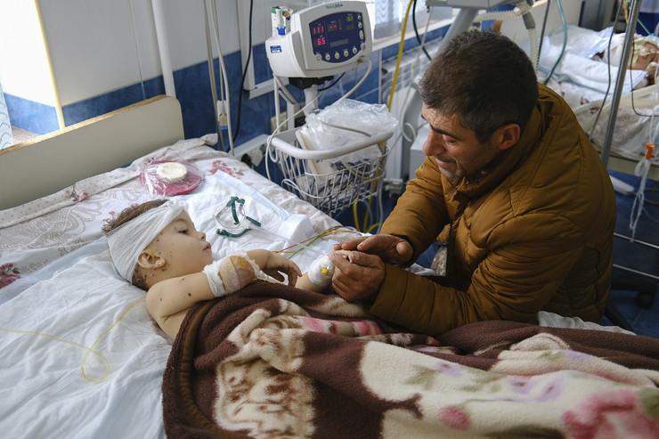 Povređeni civili u Nagorno-Krabahu  ap areg balayan stepanakert Di020297351