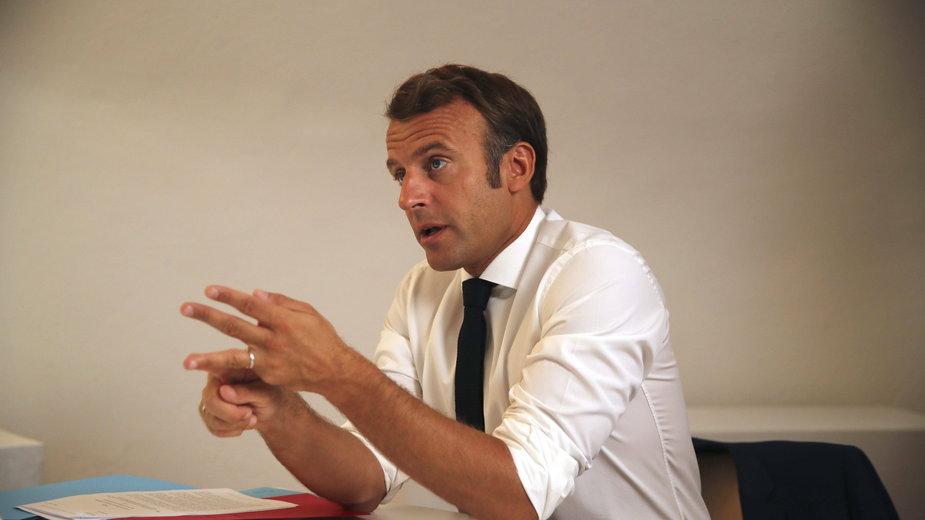 Prezydent Emmanuel Macron zapewnił Greków o wsparciu