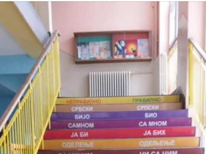 U ovoj školi u Srbiji đake su dočekali sa OVAKVIM STEPENICAMA: Kladimo se da ovako nešto još niste videli!