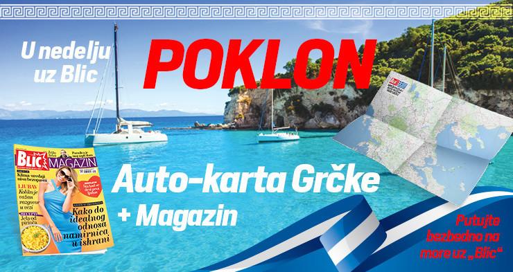 Auto-karta Grčke
