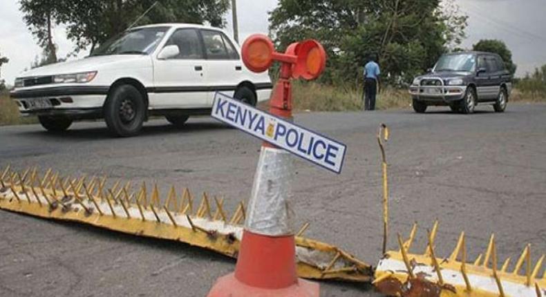 A police road block in Kenya