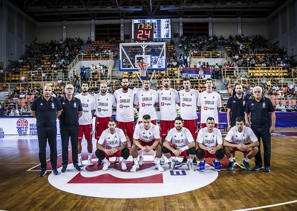 Košarkaši Srbije pred duel sa Grčkom