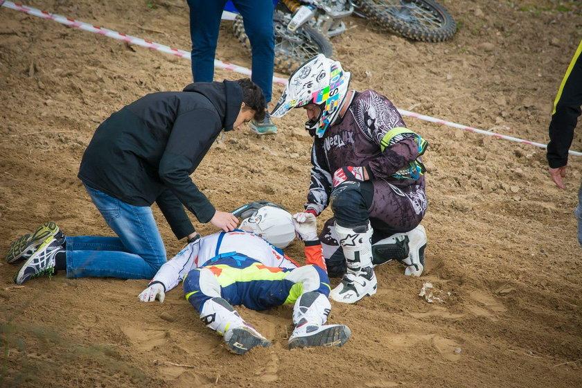 Tomasz Gollob, motocross, wypadek
