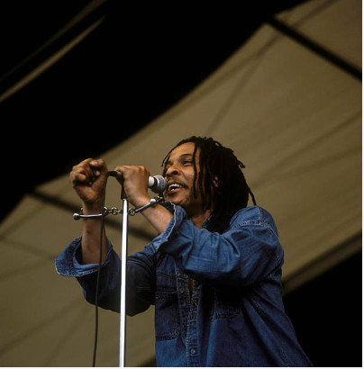 Majek Fashek's career and life took a bad turn because of his dealings with 'spiritism' not hard drugs according to his cousin Amos McRoy (Getty Images)
