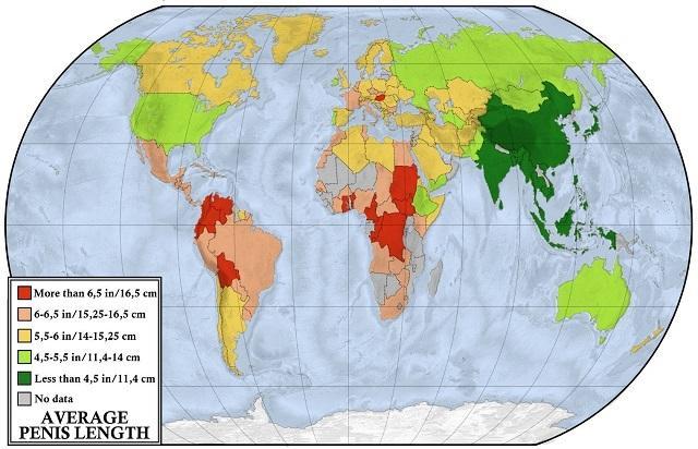 átlagos péniszméret a térképen