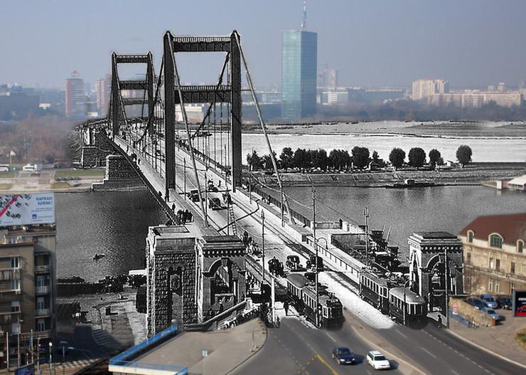 najlepse srusene zgrade03 Most Kralja Aleksandra danas Brankov arhivska fotografija