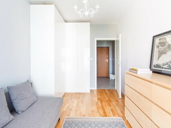Właścicielom zależało na zaprojektowaniu sypialni, której wystrój będzie można bezproblemowo zmienić w przyszłości.