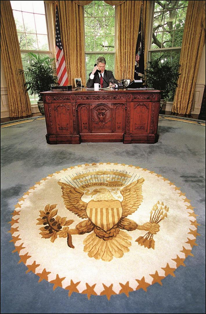 BIO-CLINTON-OVAL OFFICE-WHITE HOUSE