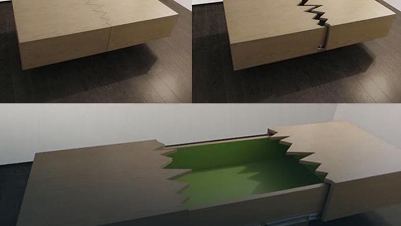 Stół po przejściu trzęsienia ziemi