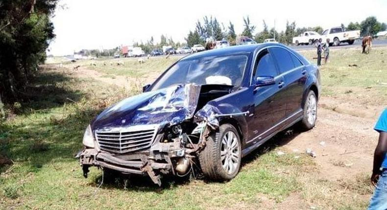 The car in which the CJ was travelling in when the accident happened