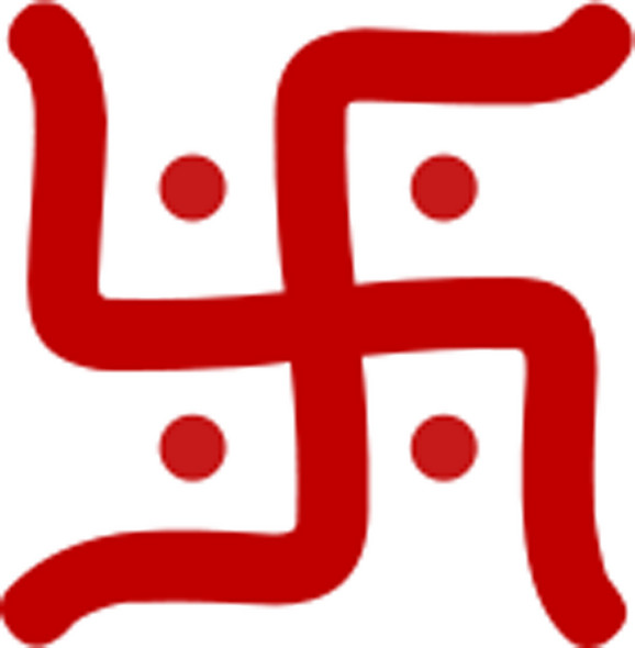 Hindu svastika sa kracima na desno