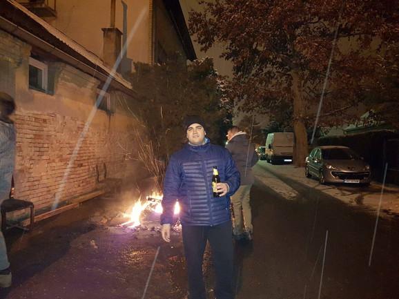 Brazilac Majkon Moreira u Inđiji na proslavi pravoslavne Badnje večeri