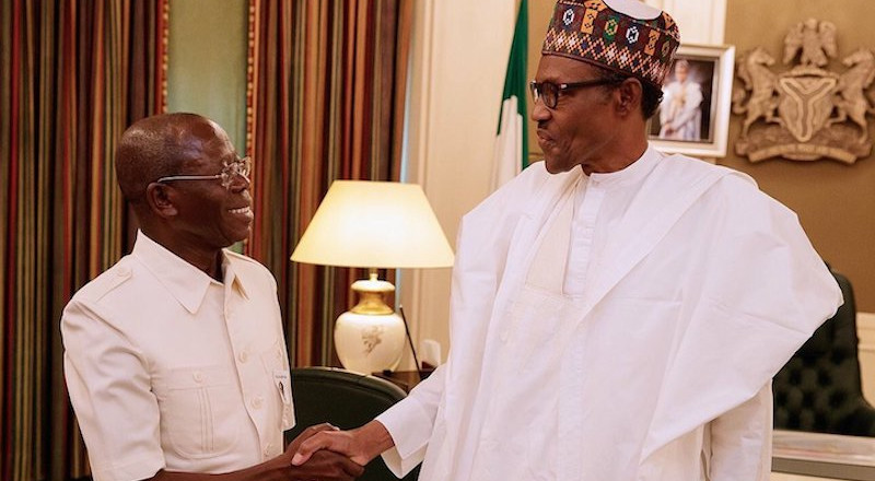 Buhari salutes Oshiohmole for providing purposeful, tenacious leadership