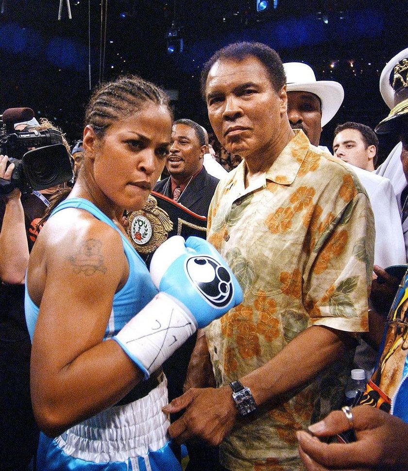 Muhammad Ali z córką Lailą w 2005 r.