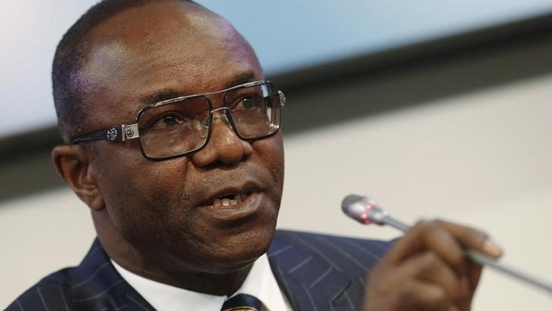 Kachikwu addresses a news conference after a meeting of OPEC oil ministers in Vienna, Austria, December 4, 2015. REUTERS/Heinz-Peter Bader