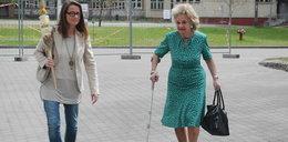 Jaruzelskie odwiedziły generała w szpitalu. FILM