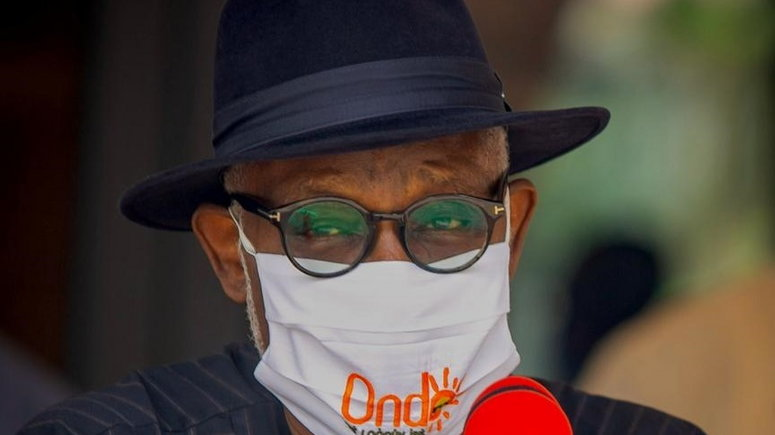Ondo State governor, Rotimi Akeredolu, is one of six Nigerian governors who have been infected [Twitter/@RotimiAkeredolu]