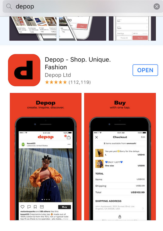 444bad8d The ease at which you can shop and sell items on Depop has been a major  contributor to its success.