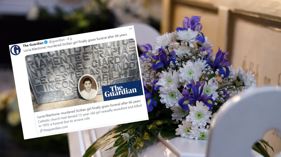 Lucię Mantione pochowano po 66 latach (fot. Twitter.com/@guardian)
