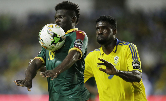 Detalj sa meča Kamerun - Gabon