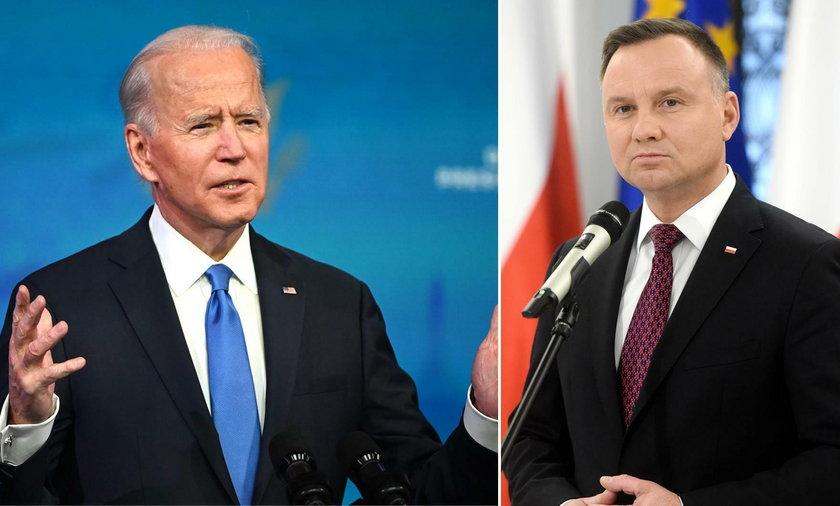 Joe Biden, prezydent-elekt USA i prezydent Andrzej Duda