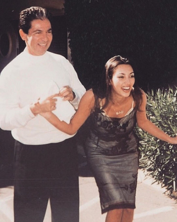 Kim Kardashian and her late dad, Robert Kardashian [Instagram/KimKardashianWest]