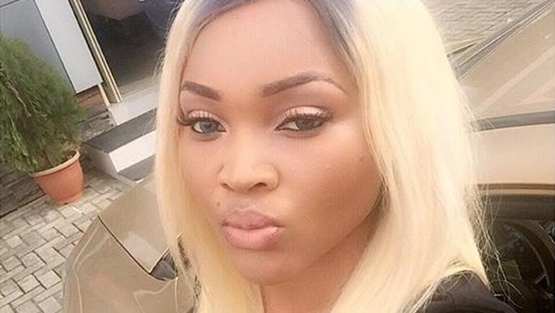Mercy Aigbe shows off her platinum blonde hair