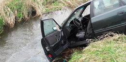 Pijany wpadł autem do rzeki