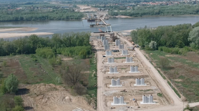 Trwa budowa nowego mostu w Warszawie