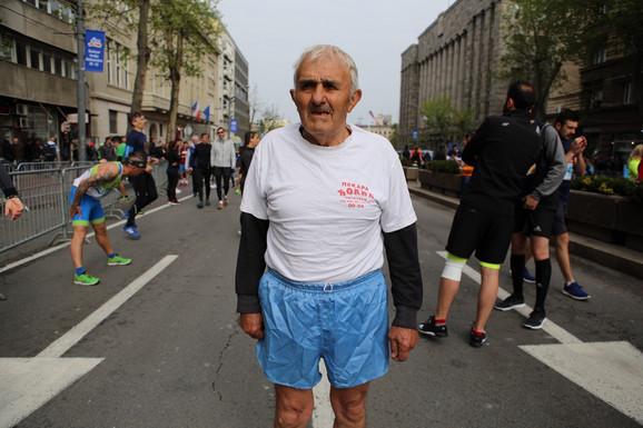 Petar  Stošić, maratonac u devetoj deceniji