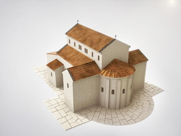 Bazilika Svetog Dimitrija – spoljni izgled - rekontrukcija
